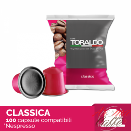 100 Capsule Nespresso Caffè Toraldo (MISCELA CLASSICA)