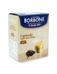 16 Capsule Compatibili A Modo Mio Caffè Borbone (CORTADO)