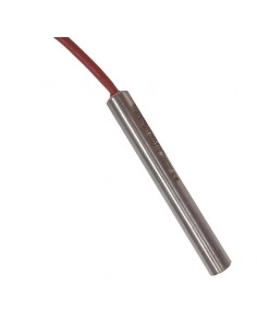 Resistenza Lineare Per Macchina Da Caffè Esecuzione dritta, diametro 12,5mm, lunghezza totale 80mm, 600Watt.