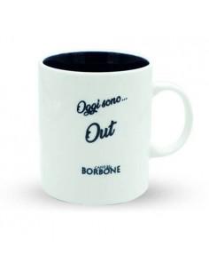 Mug 'Oggi... sono Out' Caffè Borbone